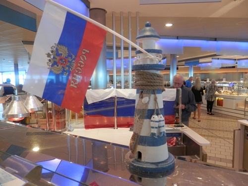 is was Russian Day in the Oceanview cafe - so amongst the regular range of choices int he buffet, there was a number of Russian dishes