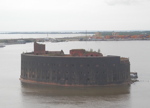 a fort at Kronstadt - this is a complete island in itself