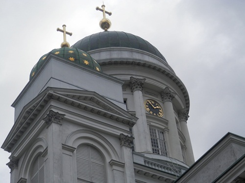 the Helsinki cathedral  is the Finnish Evangelical Lutheran cathedral