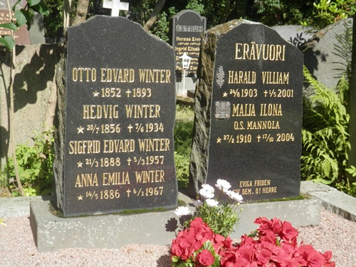 Otto and Hedvig are my 2x great grandparents, taken at the Helsinki cemetery