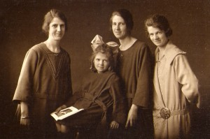 Evelyn with her three older sisters, Anne, May and Dorothy, c.1924