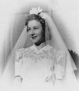 Valda's wedding, 1944
