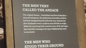 the men the called the ANZACs