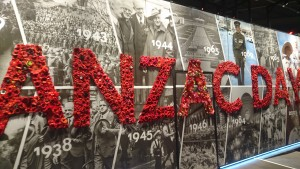 the giant Anzac Day wall