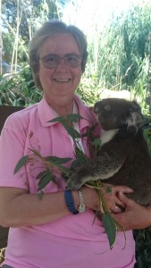 "Judy G. Russell with ""Kevin"" at the Gorge Wildlife Park"