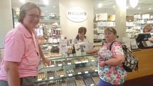 Helen had to introduce Judy to the world famous Haigh's Chocolates