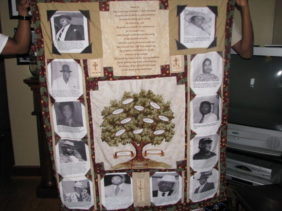 a family tree quilt created by D.L. Taylor