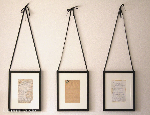 who knew that old recipes looked so good framed!