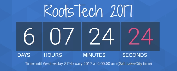 RootsTech 2017 countdown timer