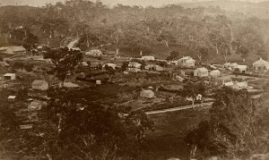 earliest known photo of Gumeracha, taken c1870 [click for a larger image]