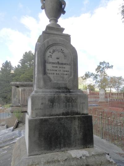 Frederick Hannaford's grave, Cudlee Creek, South Australia