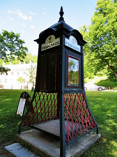 the old telephone booth at Fiskars