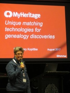 Rosemary demonstrated the usefulness of the MyHeritage website