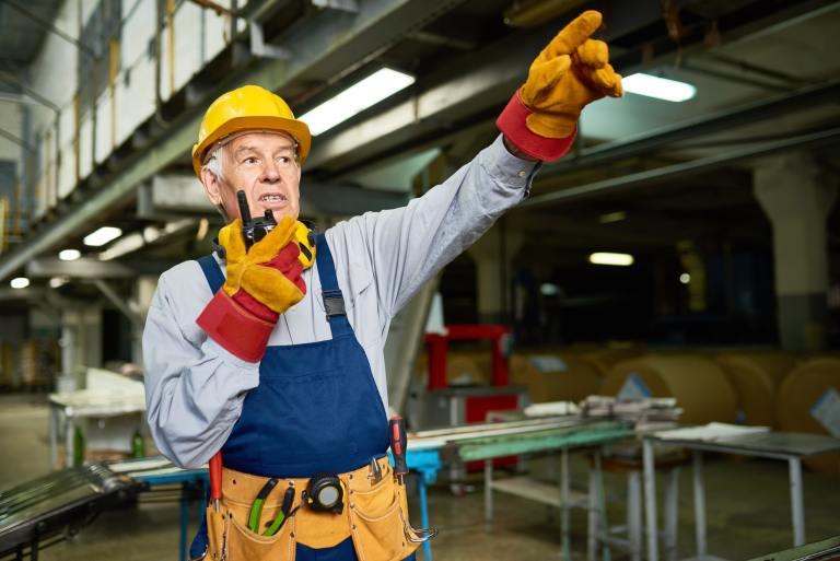 Senior Foreman Giving Instructions