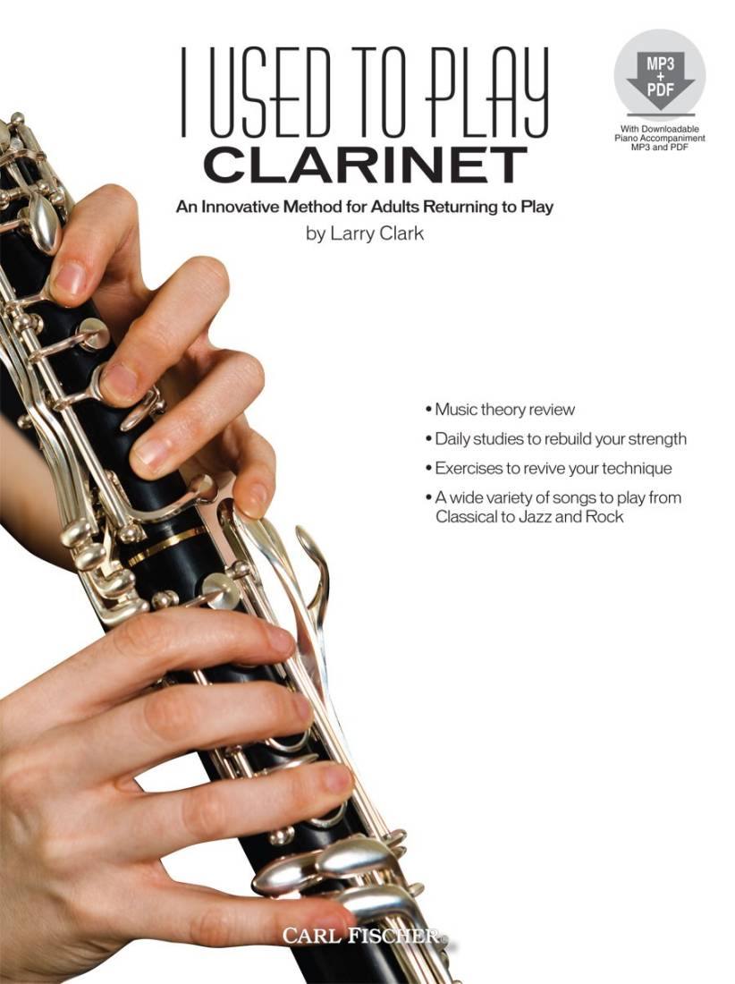carl fischer i used to play clarinet - clark - book/cd - long