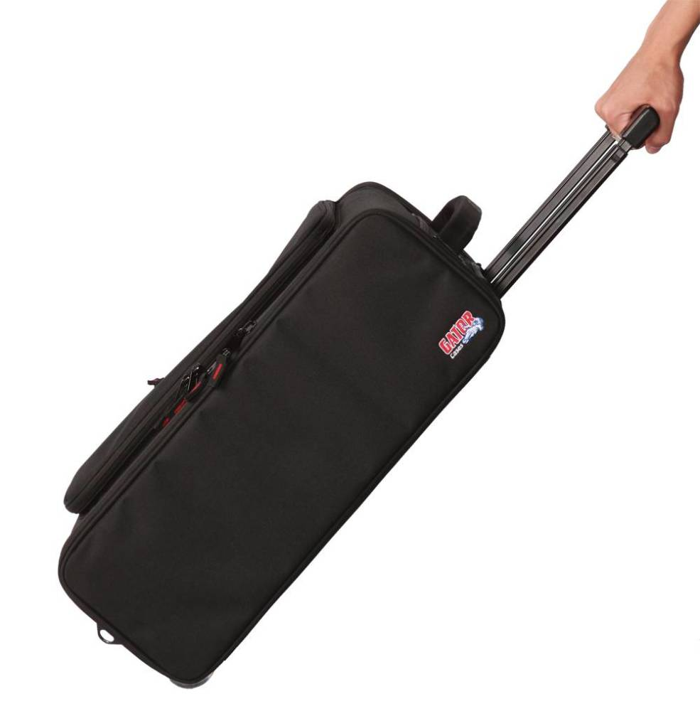 gator 4u lightweight rack bag w tow handle and wheels long mcquade