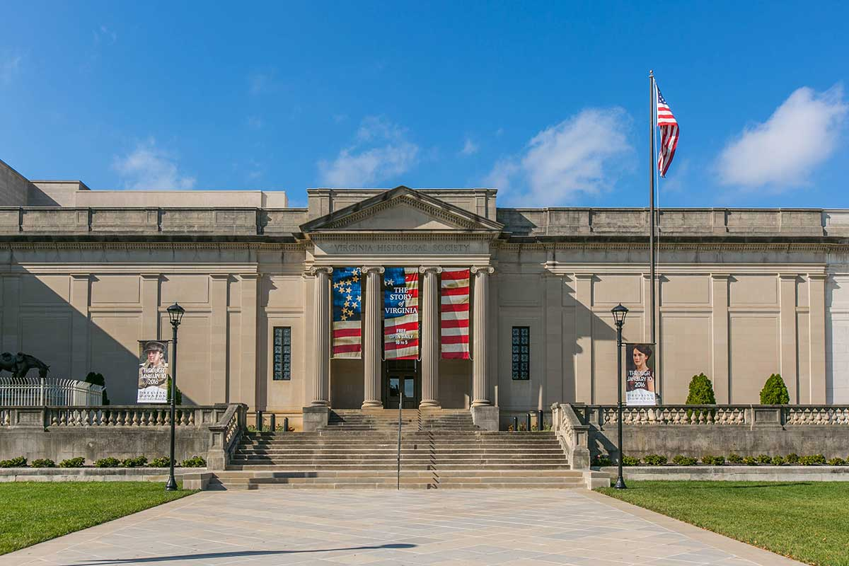 Entrance To The Virginia Historical Society In Museum
