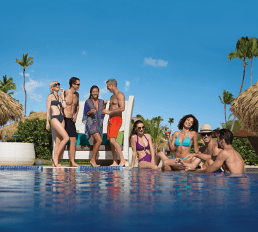 Breathless Punta Cana Resort & Spa - Activities - Lounge with friends at Freestyle Swim & Entertainment Zone
