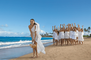 Breathless Punta Cana Resort & Spa - Weddings - Toss the bouquet on the beach