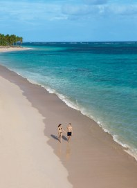 Dreams Palm Beach Punta Cana - Grounds - A panoramic images of the palm-studded beach