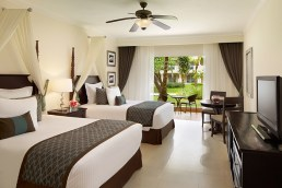 Dreams Palm Beach Punta Cana - Accommodations - Preferred Club Deluxe Tropical View Doubles*. *Only select rooms will have this bedding style