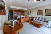 Secrets Silversands Riviera Cancun - Accommodations - Standard Suite Living Room
