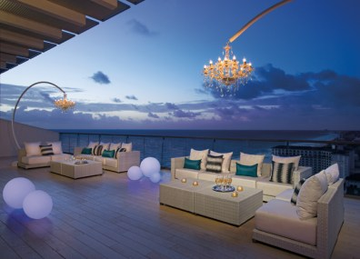 Secrets The Vine Cancun - Accommodations - Presidential Suite Terrace Night