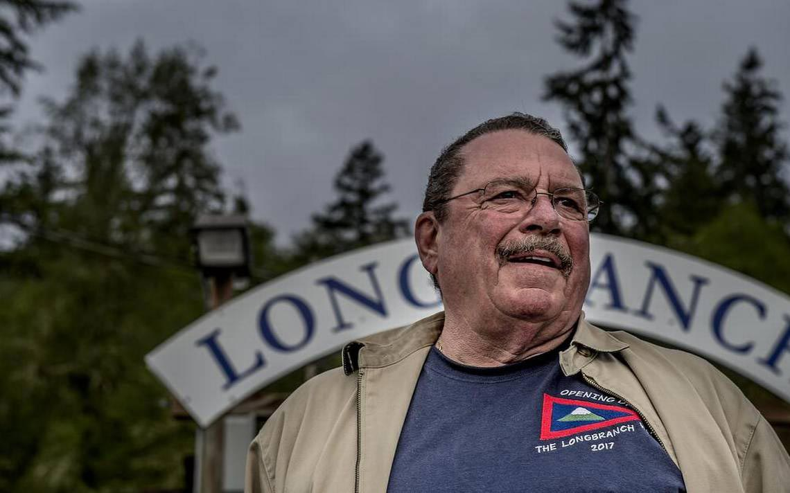 Clark Van Bogart, president of the Longbranch Foundation, at the Longbranch Marina's opening day breakfast May 6.