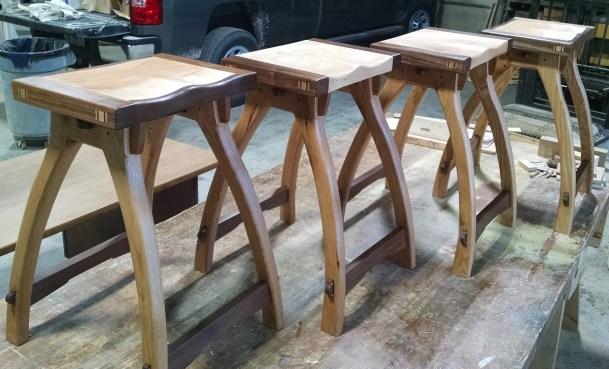 Timber Frame Furniture: Barstools