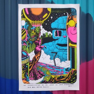 Big Ben Boing Music - screen printed poster by John Andersson
