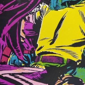 Jungle - screen printed poster by Mileta Mijatović. Detail