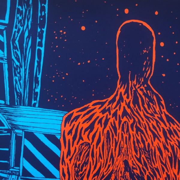 Hypnosis - screen printed poster by Erik Svetoft. Detail.