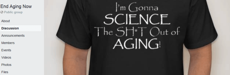 anti aging facebook group end aging now
