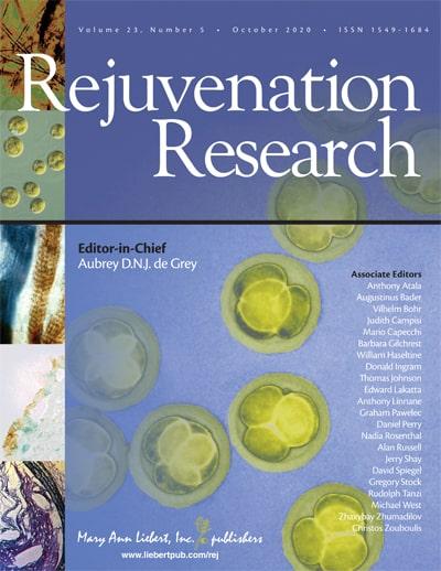longevity journal rejuvenation research aubrey de grey
