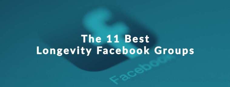 "Facebook Icon for Longevity Facebook Groups with text, ""The 11 Best Longevity Facebook Groups"""