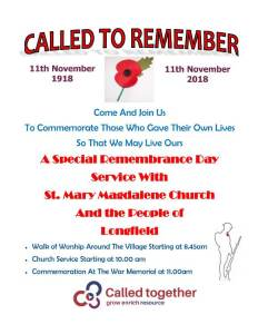 WW1 Commemoration 2018 Poster