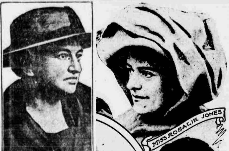 Ida Sammis (l, Nov 7, 1918) and Rosalie Jones (Mar 1, 1913). Both from the NY Evening World.