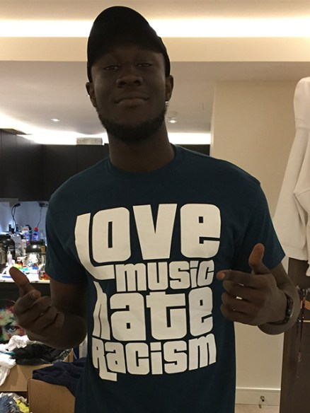 Stormzy supporting Love Music Hate Racism