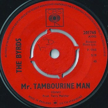 Mr Tambourine Man single