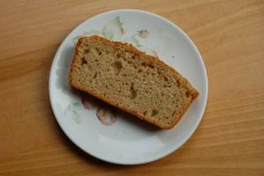 Sourdough quick bread slice