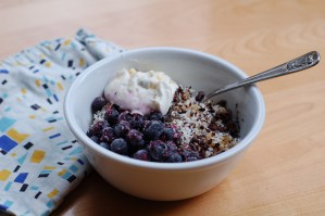 Instant pot steel cut oatmeal with toppings