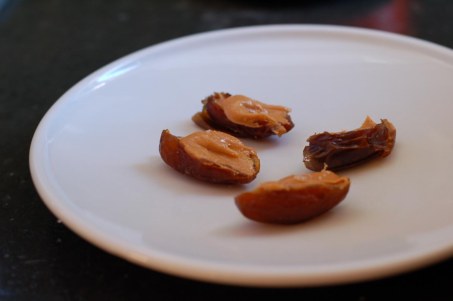 "World's easiest, tastiest, healthiest dessert: peanut butter date ""cups"""