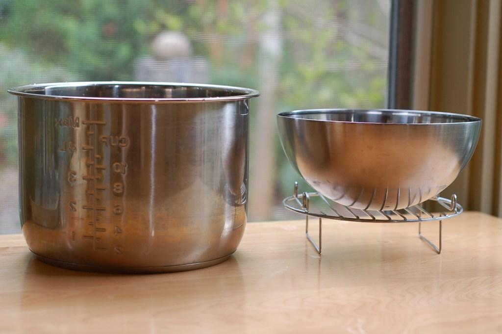 Instant Pot liner, rack, and bowl
