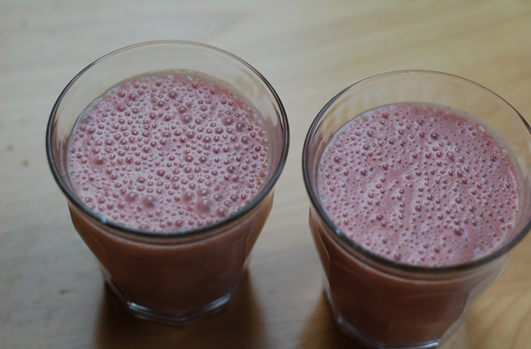 Our favorite pink (sometimes green) smoothies