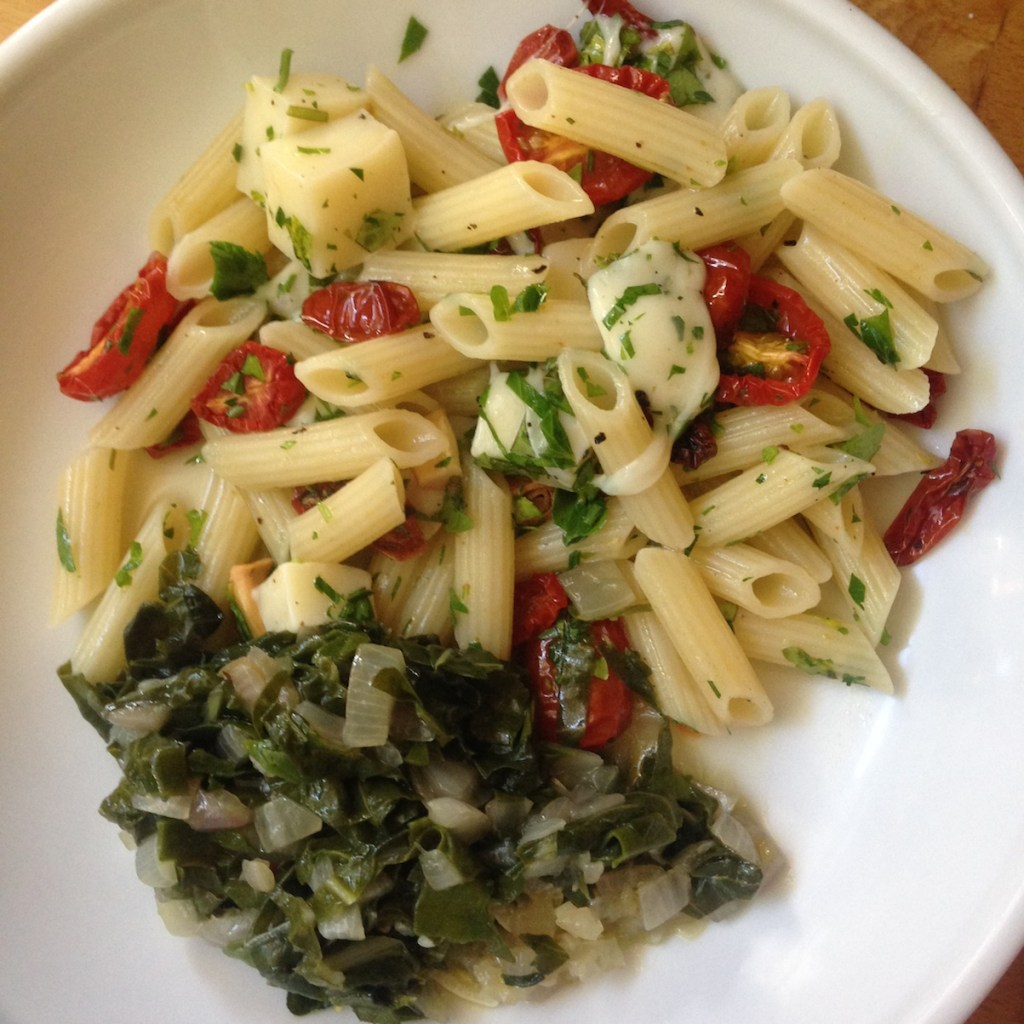Herby slow roasted tomato pasta