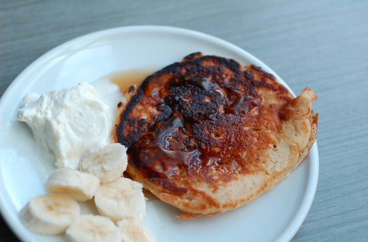 Using your starter: sourdough whole wheat oatmeal pancakes