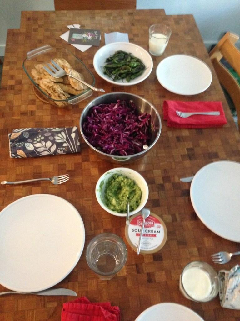 Speedy fish taco spread