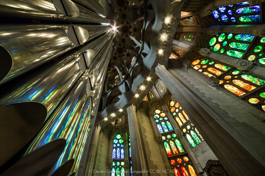 Prospettiva dell'organo della Sagrada Familia