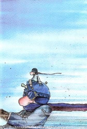 Claudio Giovenzana in viaggio. Illustrazione di Lorenzo Terranera