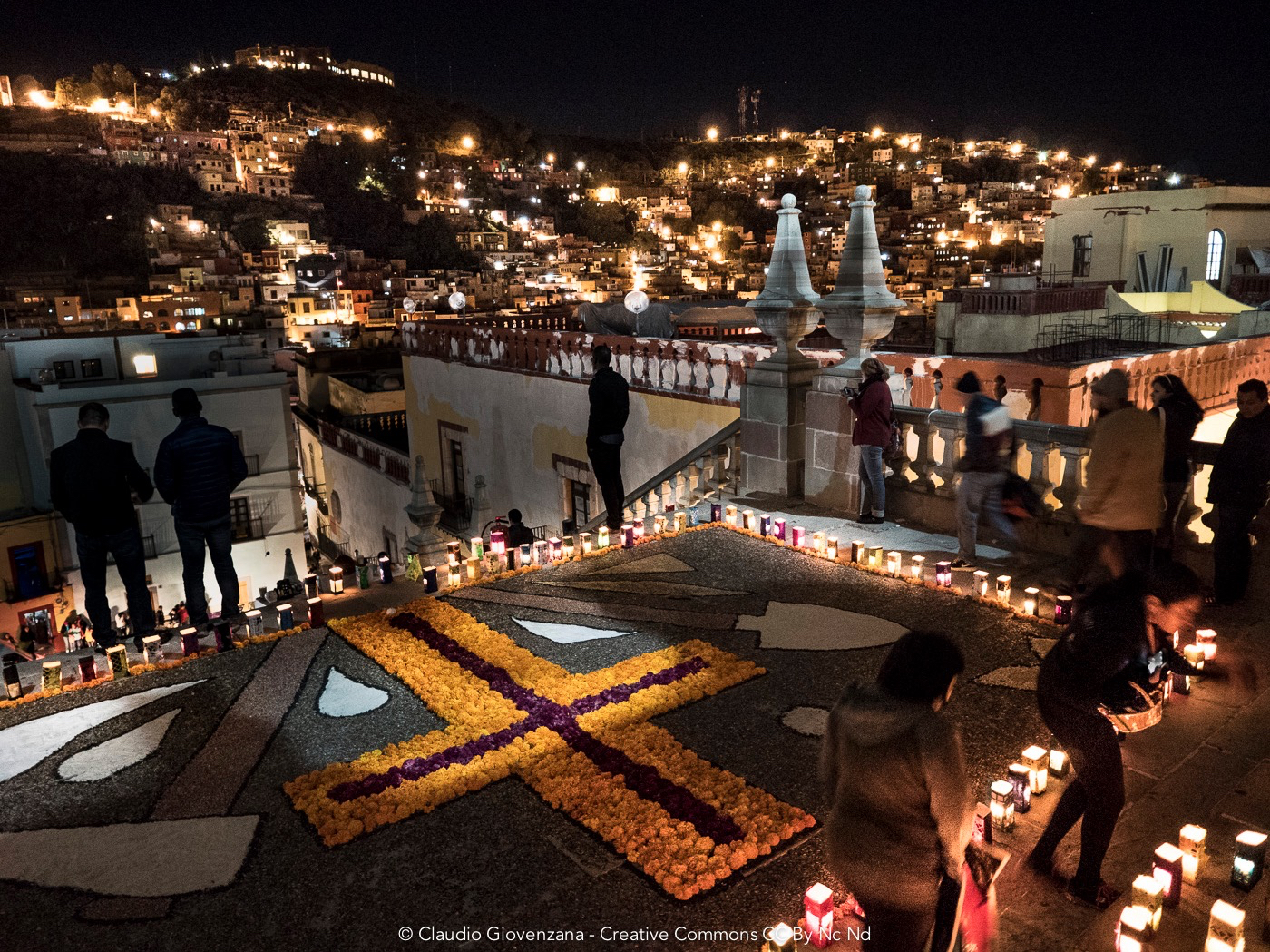 Guanajuato di notte durante il giorno dei morti all'università